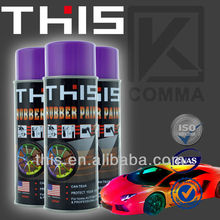 2014 THIS peel off hot new product rubber paint plastic dip spray for cars