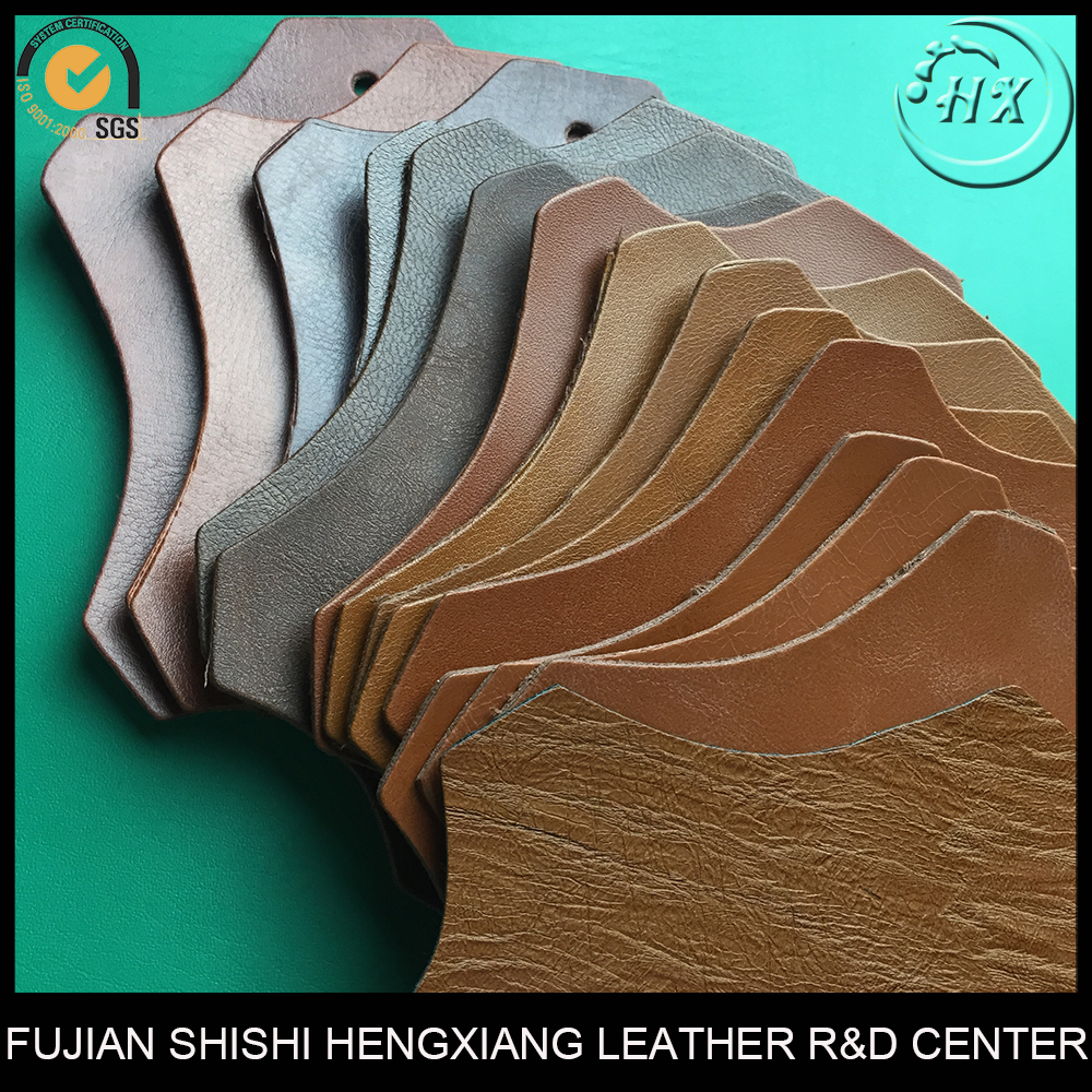 Factory Direct Supply Cheap 1.2mm Brown High Quality Textured Faux Leather