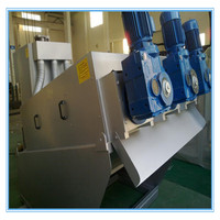 China Paper making factory sludge dewatering machine screw press