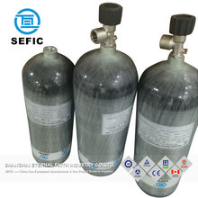 pcp air rifle gas cylinders diving 3liter 6.8liter 9liter carbon fiber cylinder tank 300bar
