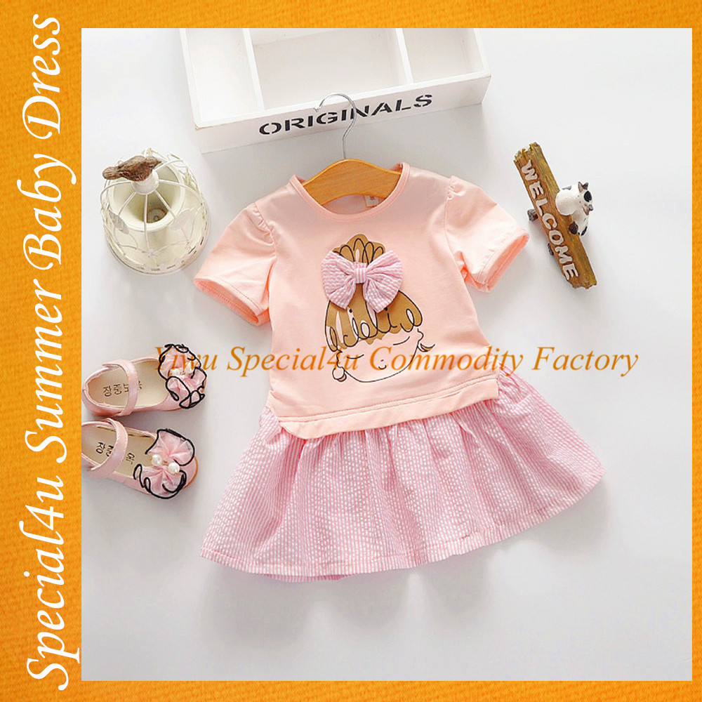Fashion dresses for 2-8 years girl silk dresses kids boutique clothes SHLY-1282
