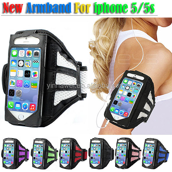 For iphone5 Breathable waterproof sport armband case