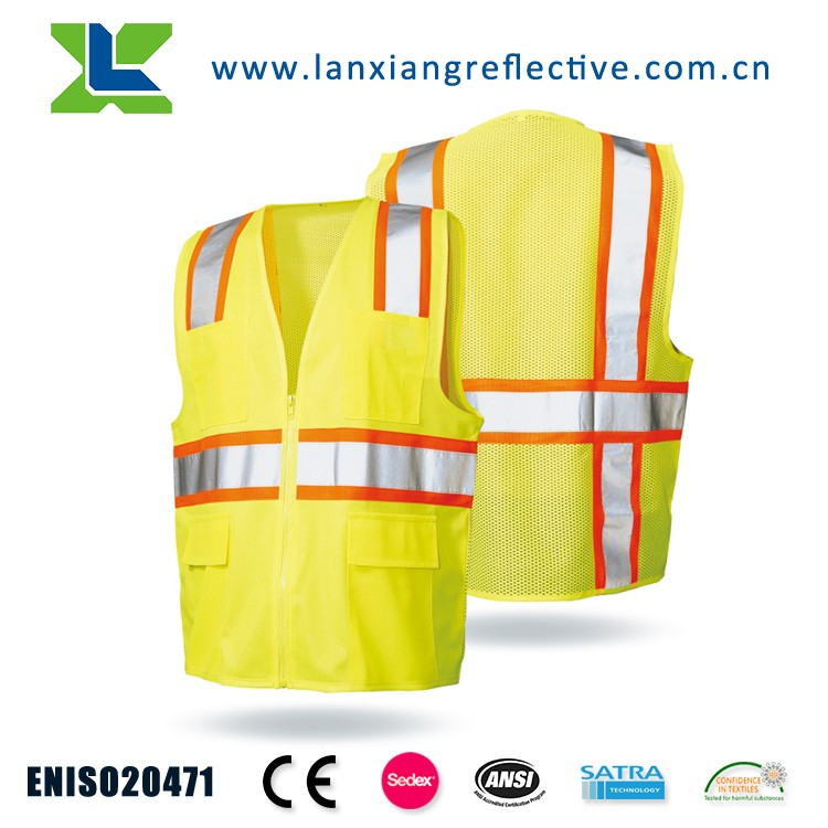 LX619 Yellow Wholesale Reflective Safety Vest