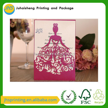 2017 High quality latest wedding card designs support customization