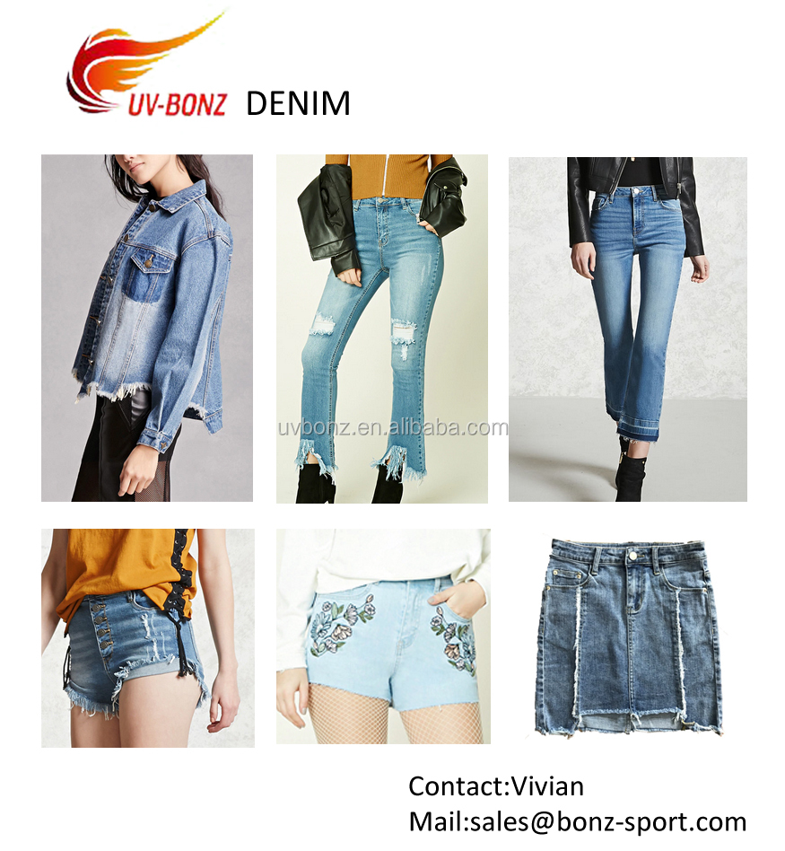 Fashion blue ripped denim short jeans pants short trousers for girl