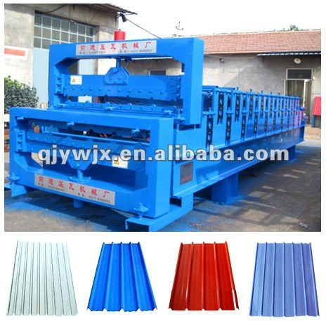 forward double deck metal roofing sheet/panel roll forming machine