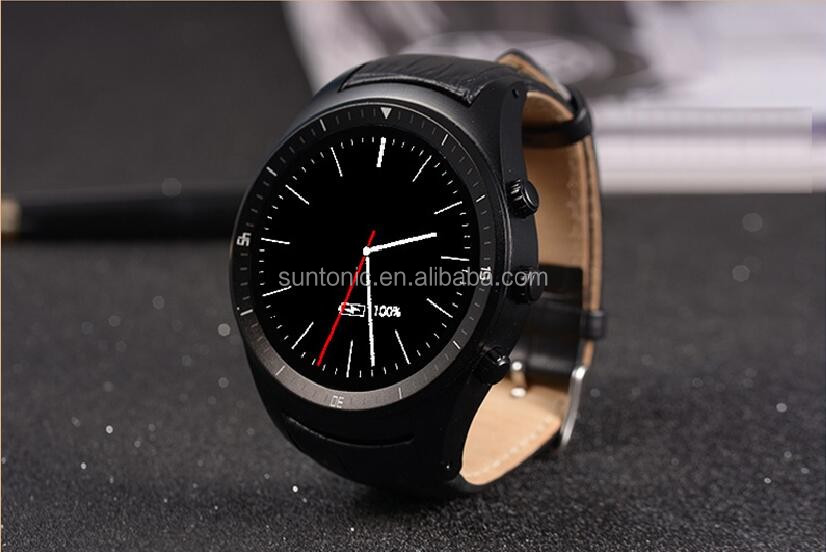 Round Display Android 4.4 smart watch with sim card slot support WIFI GPS Bluetooth