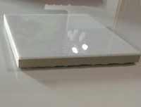 Pure White Compound Crystallized Glass Tile