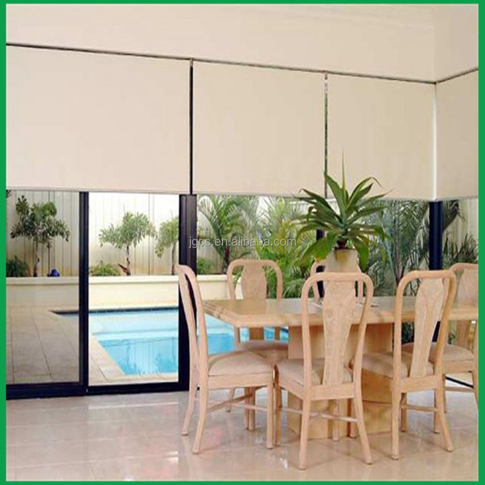 30% Polyester 70%Pvc Sun Screen Roller Blinds Exterior Roller Sunscreen And Blackout For Curtain