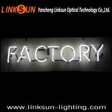High quality white factory neon word light