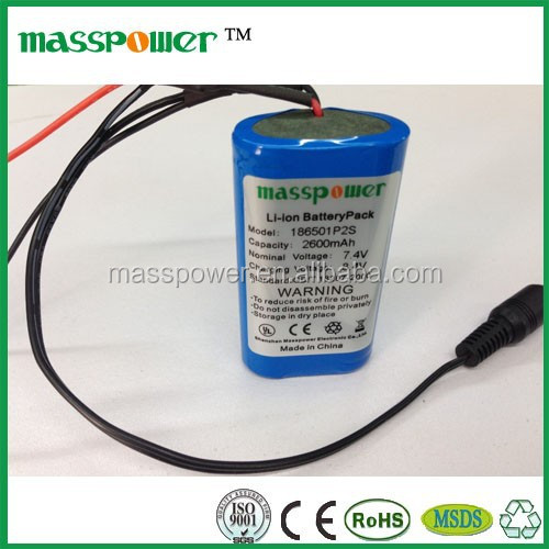 18650 7.4v Rechargeable Lithium li-ion Battery