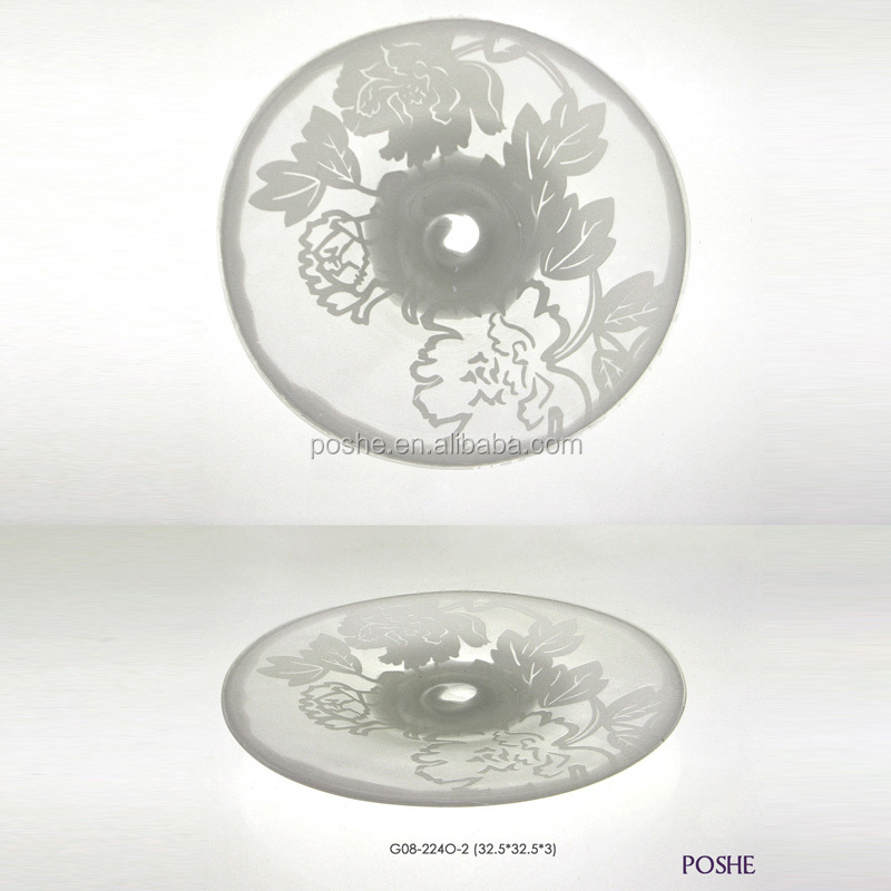 High quality wholesale luxury decorative colored glass bowl
