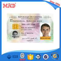 MDCL899 NFC Portrait Business Card Sample/ Customized RFID Name Cards