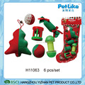 Cute Wholesale XMAS Plush Cat Toy Plastic And Plush Cat Play Toy