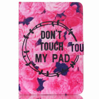 for ipad mini 1 2 3 animal flower PU wallet case, for ipad mini flip stand leather case