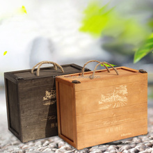Europe six bottles wood gift packing wooden wine box for sale