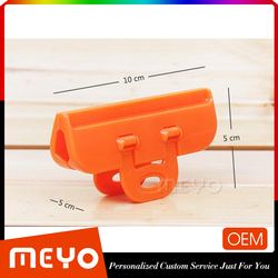 Colorful spring food bag storage clamp clip with handle