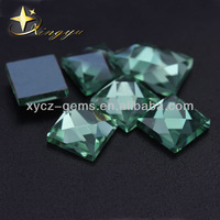 8mm Face Cut Square Glass Gemstones In Bulk Wholesale