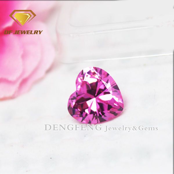 Loose Gemstone Zircon Heart Cut Rose Pink CZ For Jewelry