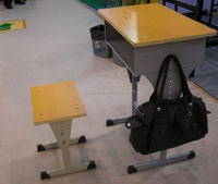 single seat cheap student desk and chair
