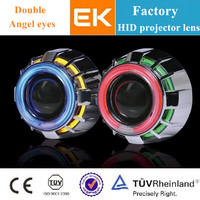 2014 popular LED angel eye projector lens kit / hid bi xenon projector lens light / angel eyes motorcycle headlights