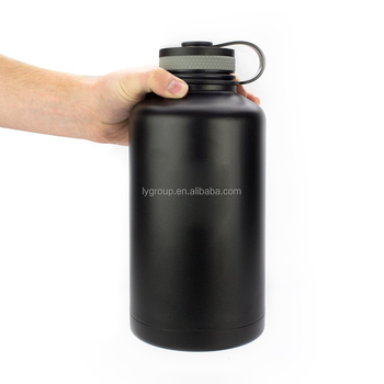 Amazon Hot Selling 64oz Insulated Stainless Steel Beer Growler with Power Coating,OEM 64oz Insulator Growler