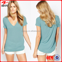 2016 Women T Shirt Custom T Shirt V Neck Wholesale Clothing Online Shopping