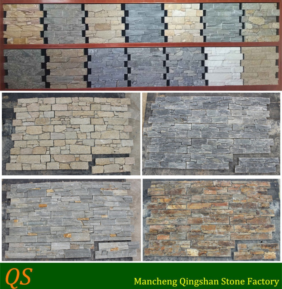 Exterior Wall Granite : Natural slate exterior stone wall panel tiles