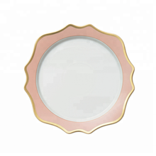 13 inch western elegant embossed ceramic chargers <strong>plate</strong>