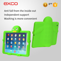 EXCO 2016 New arrival protective penguin silicone tablet cover for ipad air with foam stand
