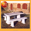 Natural stone and cast iron garden bench for outdoor furniture