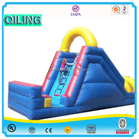 2016QiLing Hot Sale Factory Directly Supply Commerical Kids Outdoor Playground Large Childrens inflatable dry Slides