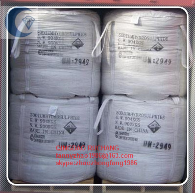 NaHS 70%min Sodium Hydrosulfide Yellow Flakes For Flotation Agent