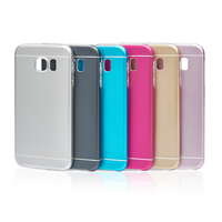 Top quality dual layer matte back cover cases for samsung galaxy s6 aluminum case with tpu inner bumper for samsung galaxy s6