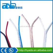 2 core electrical flat cable wire , 2 core speaker cable