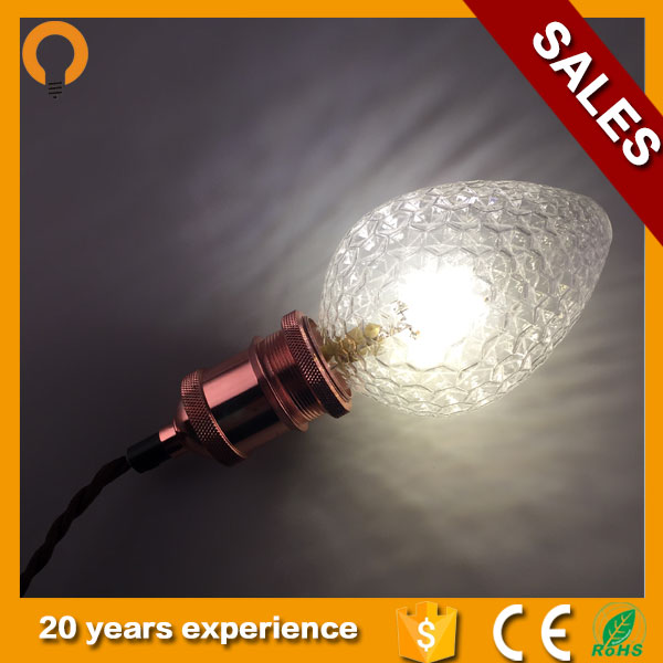 Decorative lamp Strawberry shape LED Filament Bulb for Christmas