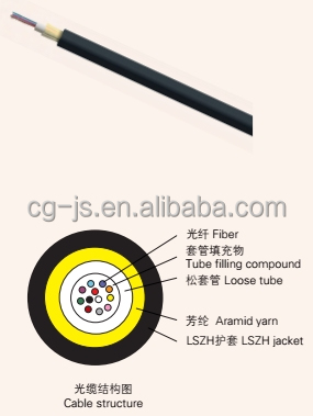 low smoke fire resistant FTTH ABC-II selfie stick with cable