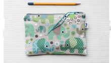 Cartoon pencil case canvas pouch make up bag elephants