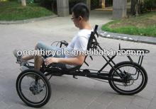 20 inch hot sale 3 wheels leisure recumbent tricycle