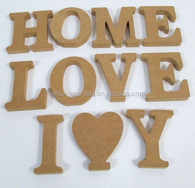 Cheap wood letter decorative wooden alphabet for crafts for Small wooden letters for crafts