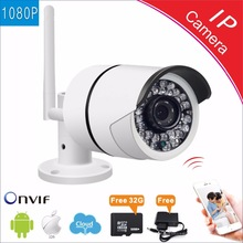 HD Full 1080P Waterproof Wifi IP Camera 2.0MP Outdoor Wireless Local Cloud storage 32G P2P Bullet security cctv camera ONVIF