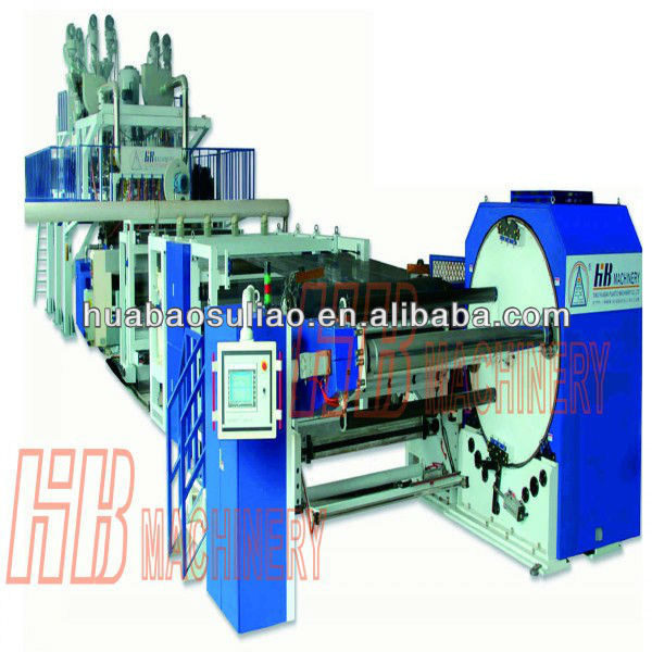Three layer/five layer co-extruded CPP transparent film production line