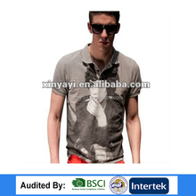 European style design 2017 new polo mans shirt china prinintg clothes summer wear