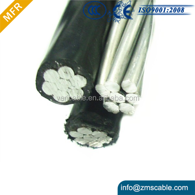 IEC Standard 3 Core Overhead Bundled Aluminum Triplex Aerial Cable