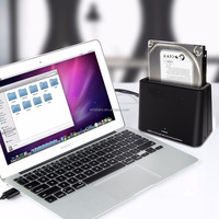 6TB USB 3.0 to SATA HDD Docking Station, Single Bay External Hard Drive Dock for 2.5 or 3.5in HDD, SSD