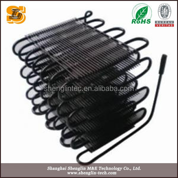 6 layer wire and tube condenser for refrigaration
