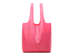 Colorful OEM Logo Waterproof Foldable Tote Nylon Shopping Bag