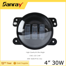 high quality 4inch led fog light 9-32V high power 30w led car led fog light auto part led lamp for Jeep Wrangler