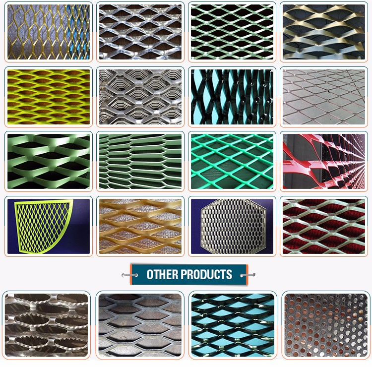 Top grade decorative diamond aluminum expanded metal mesh for fence