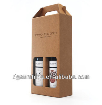 2-piece wine gable packing box with clear window